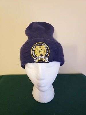 Vintage University Of Notre Dame Starter Beanie Hat Made in USA OSFA