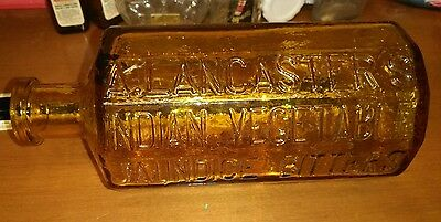 A. LANCASTER'S INDIAN VEGETABLE JAUNDICE BITTERS - REPRO WHEATON BOTTLE yellow