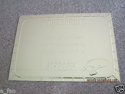 Star Trek TOS Season 3 Gold Plaque #G 30 Catspaw - Skybox 1999                ZT