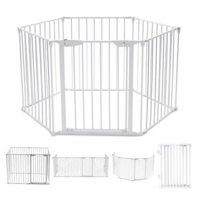 6 Panel Baby Pet Fence Playpen Foldable Metal Room Divider Play Yard Barrier New