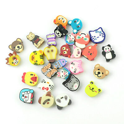 100Pcs Mixed Fimo Polymer Clay Animals Spacer-Beads 10x9mm 10x10mm