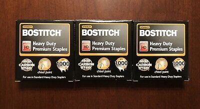 (3 Pack) Stanley Bostitch Heavy Duty Staples, 1,000 Count (3,000 Count Total)