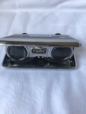 Vintage Crystar Lens 2.5X Collapsible Opera Sports Glasses