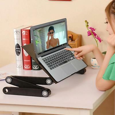 Portable Adjustable Laptop Study Desk Sofa Bed Table Stand Notebooks Dinner Tray