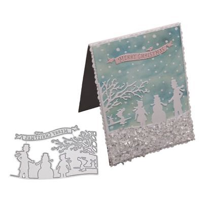 Winter Metal Cutting Dies Stencil For DIY Scrapbooking Paper Card Embossing Craf