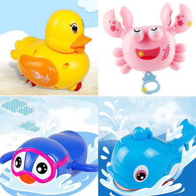 Wind Up Clockwork Cute Animal Kid Baby Swimming Favor Bath Time Play Toy
