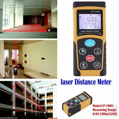 100M/328FT Digital LCD Laser Distance Meter Range Finder Measure Diastimeter Z4