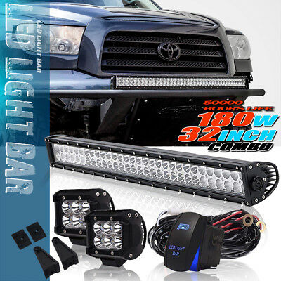 32Inch 180W LED Light Bar For truck Driving Fog Light Combo With Free Wiring Kit