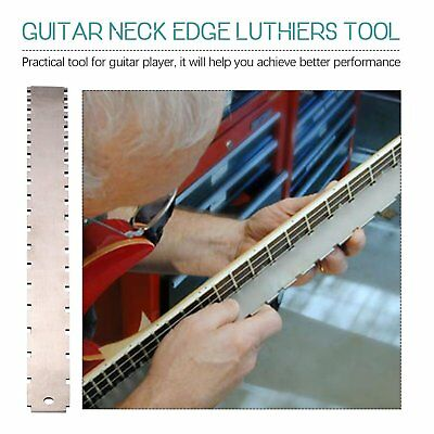 1x Guitar Neck Notched Straight Edge Luthiers Tool for Most Electric Guitars PY