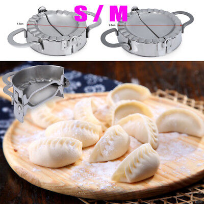 Pastry Tools Stainless Steel Dumpling Maker Wraper Dough Cutter Pie Kitchen NEW