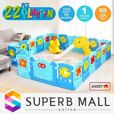 ABST 22 Sided Baby Playpen Interactive Kids Toddler Baby Room Safety Gate Toy