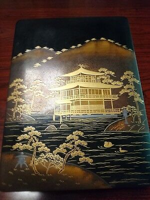 Antique Lacquered Wood Japanese Urushi Makie Box by Zohiko