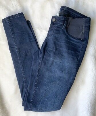 Womens Old Navy Maternity Side-Panel Rockstar Skinny Jeans Dark Wash Size 4 Long