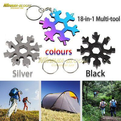 1pcs 18-in-1 Multi-tool Combination Compact Portable Outdoor Snowflake Tool Card