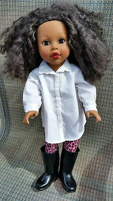 "2012 Madame Alexander African American Girl Doll 18"" Tall & Pleasant Co.Top TLC"