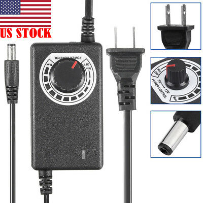 AC/DC Adjustable Power Adapter Supply 3-12V 2A Motor Speed Control Volt Display