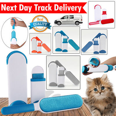 Reusable Pet Hair Lint Remover Magic Clothes Fabric Brush Travel Size Cleaner UK
