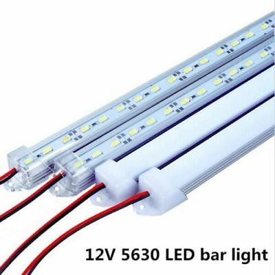 10pcs SMD5630 50cm DC12V 36led Bar Rigid Strip Light U Aluminum Shell + PC Cover