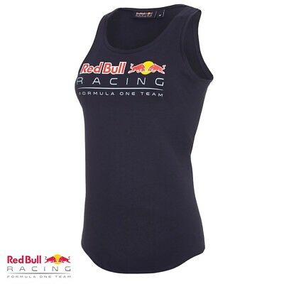 Puma Red Bull Women's Sports Vest Tank Top Official F1 Racing Team Blue RRP £50