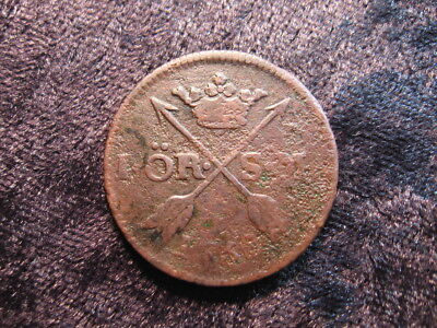 1 old world foreign coin SWEDEN 1 ore 1758 KM460