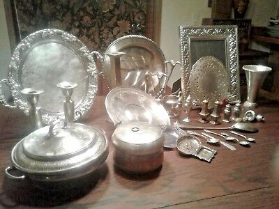 Silver Plate and Sterling Silver, Mixed Lot Antique/Vintage Items, Spoons