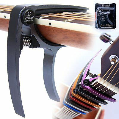 Premium Guitar Capo: 'Quick Change' Trigger Tuner Clamp for Acoustic Electric