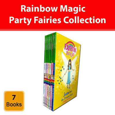 Rainbow Magic Party Fairies Collection Daisy Meadows 7 Books Set series pack NEW