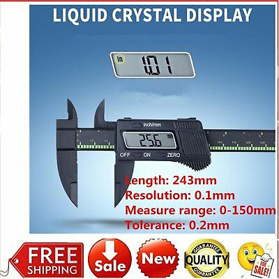 150mm Digital LCD Electronic Vernier Caliper Carbon Fiber Measuring Gauge PY