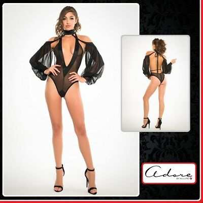 Sexy Lingerie Body V Neck & Sleeves Adore Allure donna intimo fetish sex toys
