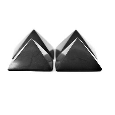 Authentic Shungite Pyramid for EMF Protection and Chakra Balancing Healing Stone