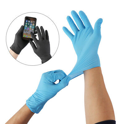 Hot 2Pcs Rubber Disposable Mechanic Nitrile Gloves Home Food Laboratory Cleaning