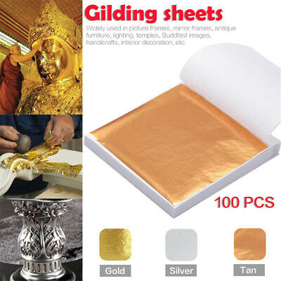 Art Paper Sliver Gold Copper Leaf Sheets Foil Paper for Gilding Craft Decorating