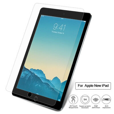 Genuine TEMPERED GLASS Screen Protector Cover For New iPad 9.7 2018 6th Gen