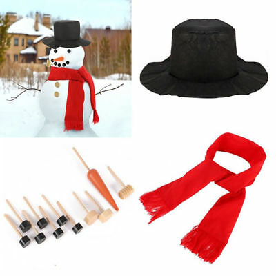 Snowman Decorating Dressing Set Including Hat Scarf Pipe Eyes Mouth Button Nose