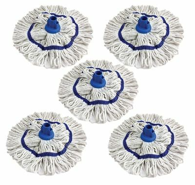 Colour Coded Mop Head Hygienic Cleaning Yarn Cotton Mop Socket BLUE Pack of 5