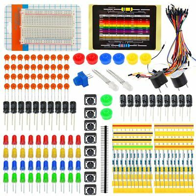 235in1 Electronic Starter Kit for Arduino Resistor Buzzer Breadboard LED CableHA