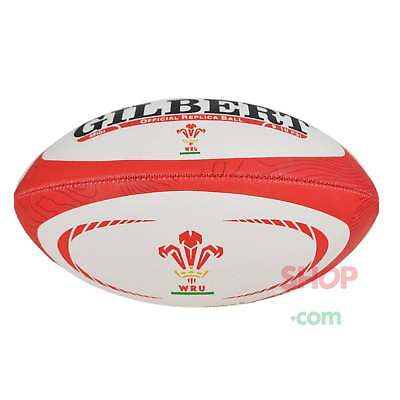 Gilbert Wales WRU 2017 Midi Replica Rugby Ball -  White and Red