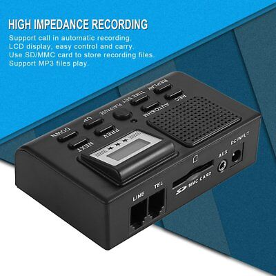 Telephone Call Recording Phone Line Voice Recorder Digital LCD Black Box NHA