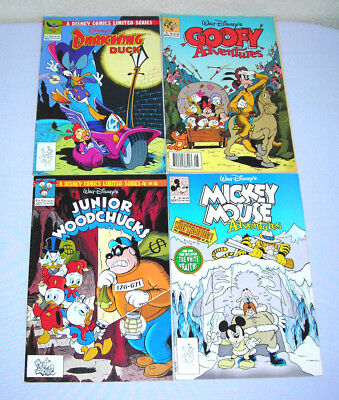 Lot of 4 Disney's Darkwing Duck 2 Goofy 3 Woodchucks 4 Mickey Mouse 4 Comics