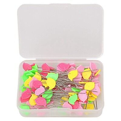 100 pcs Flat Head Straight Pins, Sewing Pins Quilting Pins for Sewing O2X4