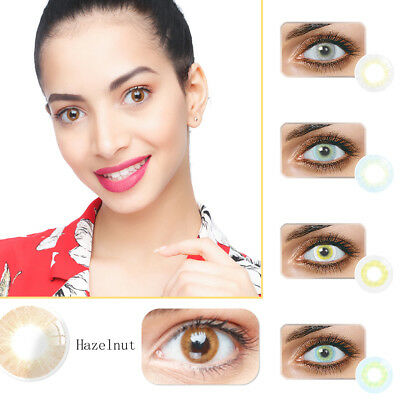 1Pair Yearly Use Colored Contact Lenses Multicolor Cosplay Masquerade Eye Pratiq