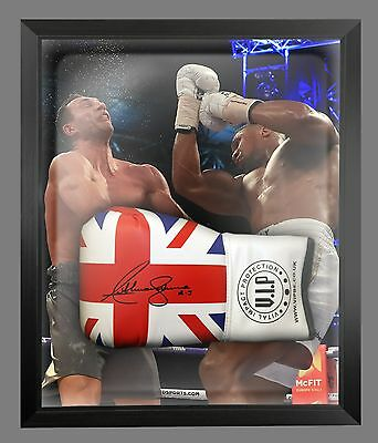 Anthony Joshua Vs klitschko Signed Union Jack Boxing Glove In A Dome :  AJ - A