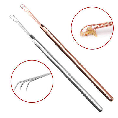 Blesiya 2x Stainless Steel Ear Cleaning Tool Health Ear Cleaner Home Travel