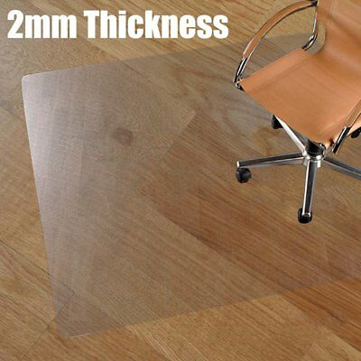 120x70x0.2cm Clear Non-Slip Office Chair Desk Mat Floor Carpet Protector Frosted