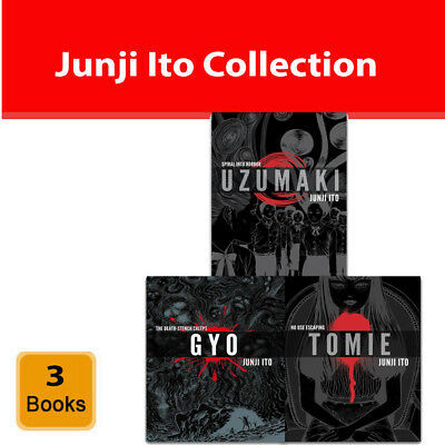 Junji Ito Collection 3 Books Set Pack Tomie Uzumaki Gyo, No Use Escaping NEW HB