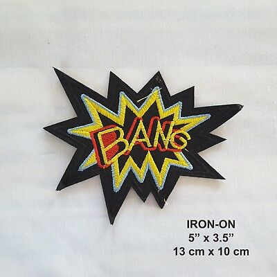 Bang Word Embroidered Iron-on Emblem Badge Patch Applique