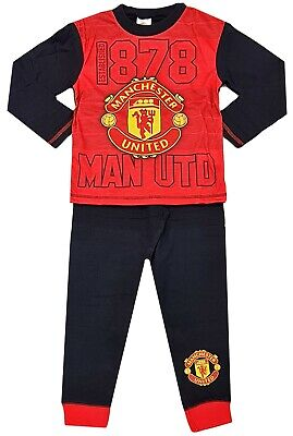 Boys Manchester United Football Club Pyjamas Man Utd MUFC Official Upto 13 Years