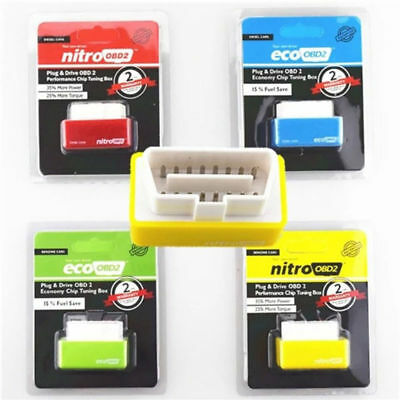 ECO OBD2 DETECTOR FLASHER FUEL POWER ECONOMY Chip Tuning Box for Petrol Cars HOT