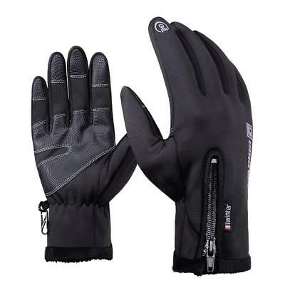 Bike Gloves Winter Thermal Super Warm Full Finger Cycling Glove Touch screen UK!