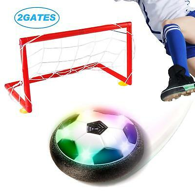 Kids Toys Soccer Goals Set, LED Hover Ball with 2 Gates and Net, Football Game A